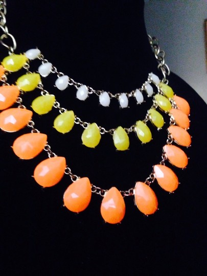 Not Rated White Yellow & Orange Drop Necklace Image 2