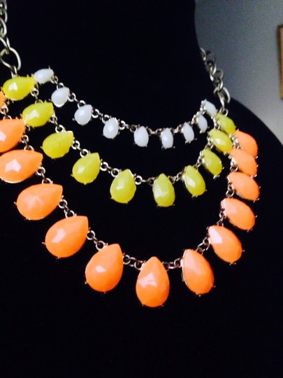 Not Rated White Yellow & Orange Drop Necklace Image 3