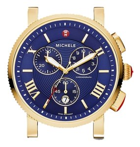 Michele MICHELE Sport Sail Large Gold, Navy Dial WITH GOLD BRACELET