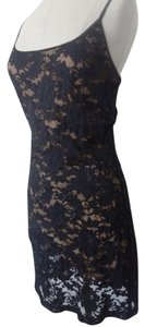 Georgette Sexy Lace Lace Black Sexy Chic Dress