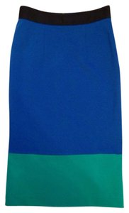 Amanda + Chelsea Skirt Blue/green/ Black