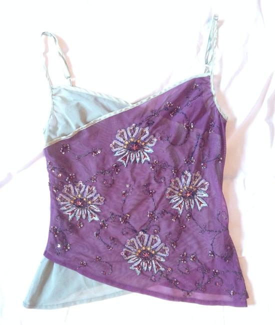 Other Sequin Embroidered Top Purple