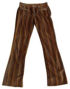 Lucky Brand Boot Cut Pants Brown striped