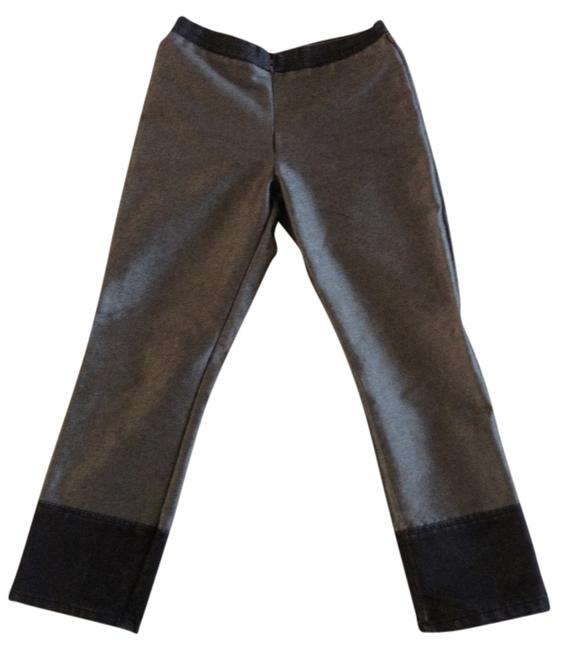 One Tuff Babe Capris Silver and black