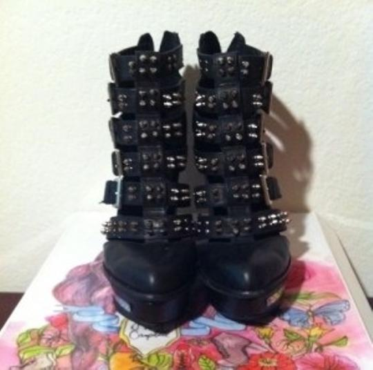 Jeffrey Campbell Black with spikes and mirror Boots