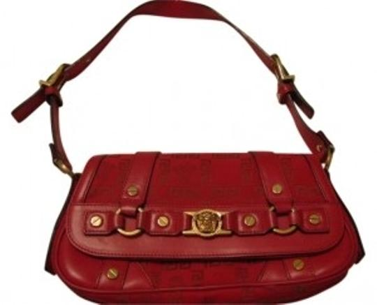 Preload https://item1.tradesy.com/images/versace-greek-key-pattern-red-leather-and-fabric-shoulder-bag-8700-0-0.jpg?width=440&height=440