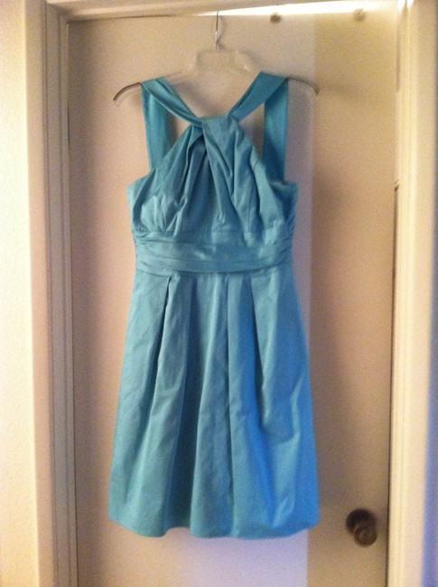 Item - Pool (Light Bright Blue) Cotton with Polyester Lining 83690 Modest Bridesmaid/Mob Dress Size 2 (XS)