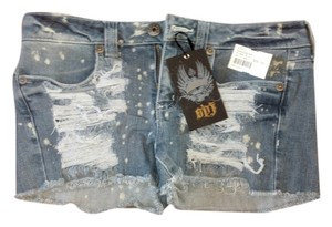Angl Cut Off Shorts Distressed Denim