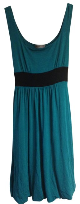 Item - Teal Above Knee Short Casual Dress Size 12 (L)