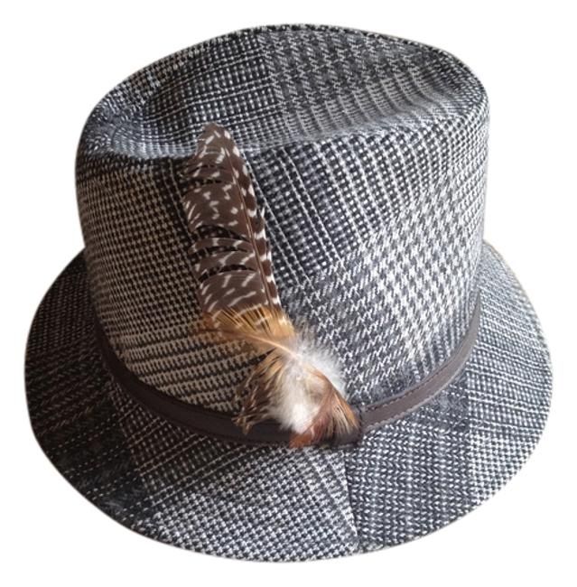 Item - Grey Fedora with Feather By Hat