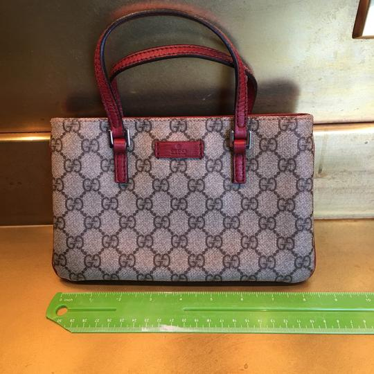 Gucci Wristlet in red & gray