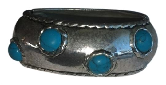 unknown Silver and Turquoise Bangle