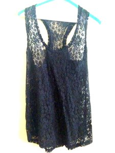 Splendid Lace Top Black