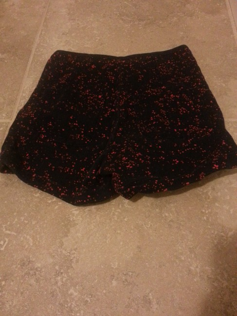 Urban Outfitters Floral Pattern High Waist Mini/Short Shorts Navy