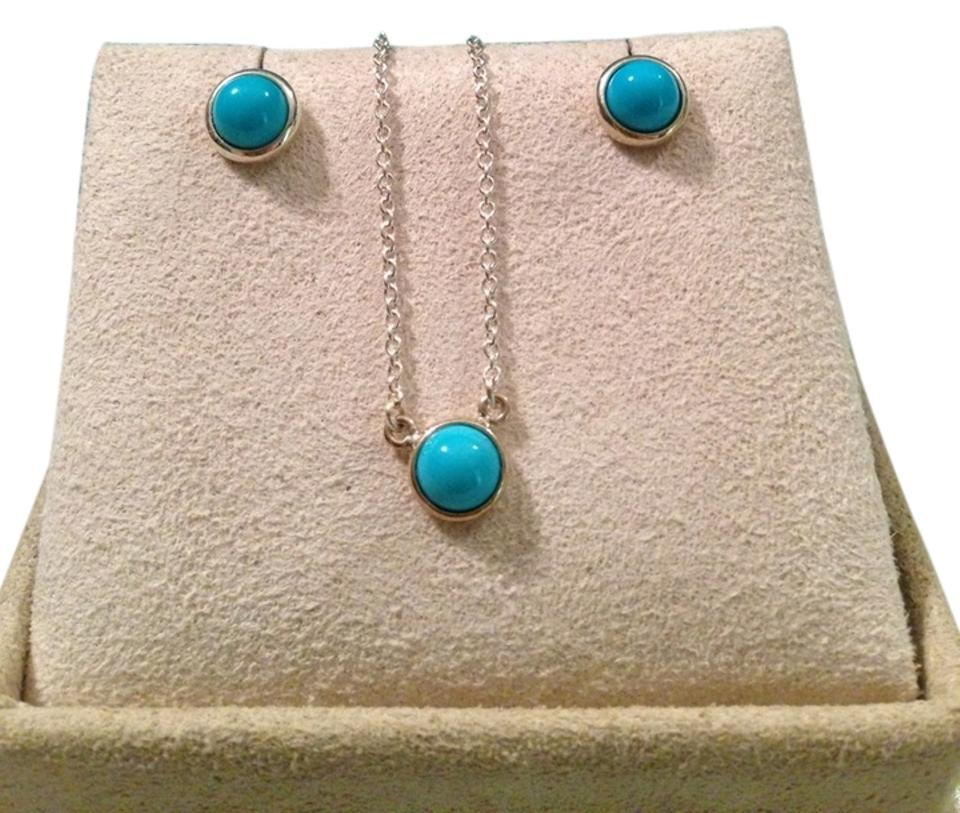 c625efe3b0db Tiffany   Co. Elsa Peretti Color by the Yard Cabochon Pendant Neckace and  Earrings Image ...