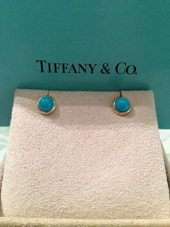 0a66385e182c Tiffany   Co. Turquoise Silver Elsa Peretti Color By The Yard Cabochon  Pendant Neckace and Earrings - Tradesy