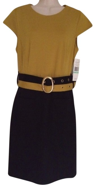 Preload https://img-static.tradesy.com/item/870410/sharagano-gold-mustard-yellow-black-workoffice-dress-size-8-m-0-0-650-650.jpg
