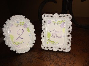 White Vintage Style Table Numbers Reception Decoration