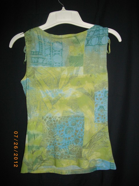 A. Byer Top Blue and Green