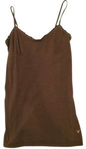 American Eagle Outfitters Ae Browncami Casual Top Brown