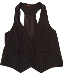 Forever 21 Pinstripe Vest Top Dark Gray