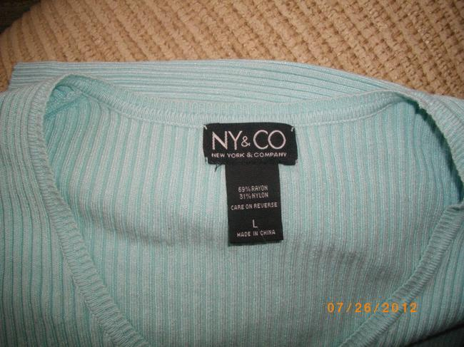 New York & Company Casual 3/4 Length Sleeves Button Front Sweater