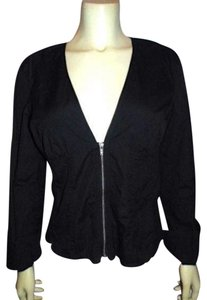 Armani Exchange Light Weight Spring Size Large Zip Front Long Sleeves Designer BLACK Jacket