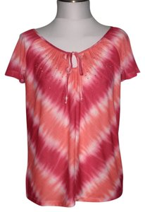 French Laundry Top Pink Tye Dye
