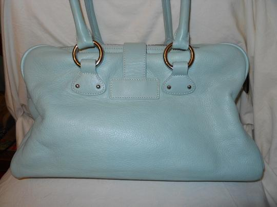 The Limited Leather Satchel in mint green Image 2