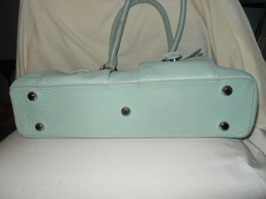 The Limited Leather Satchel in mint green