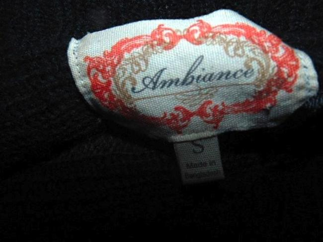 Ambiance Knit Sweater Short Sleeves Size Small Stretchy Juniors Cute Top GRAY