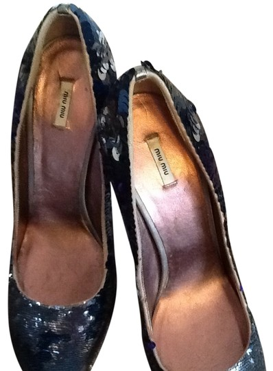 Miu Miu Sequence Blue Pumps
