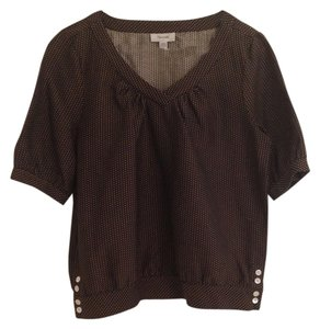 Faconnable Woven Mother Of Pearl Top brown