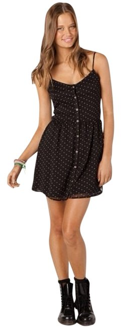 Volcom short dress Black With White Polka Dots on Tradesy
