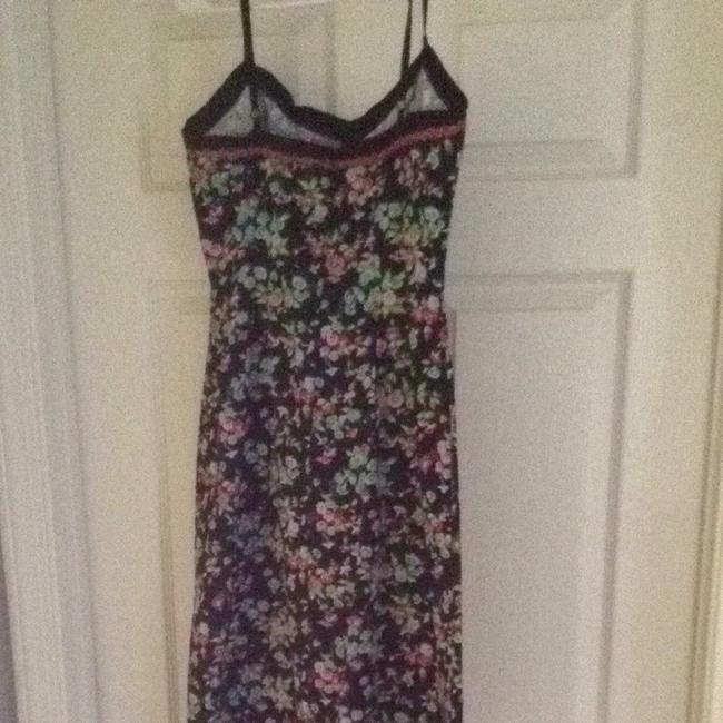 Betsey Johnson short dress Black Pink Green Blue Floral on Tradesy