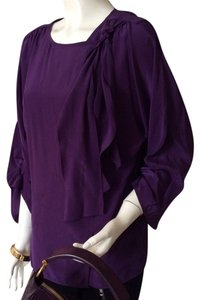 BCBG Silk Tie Top Grape