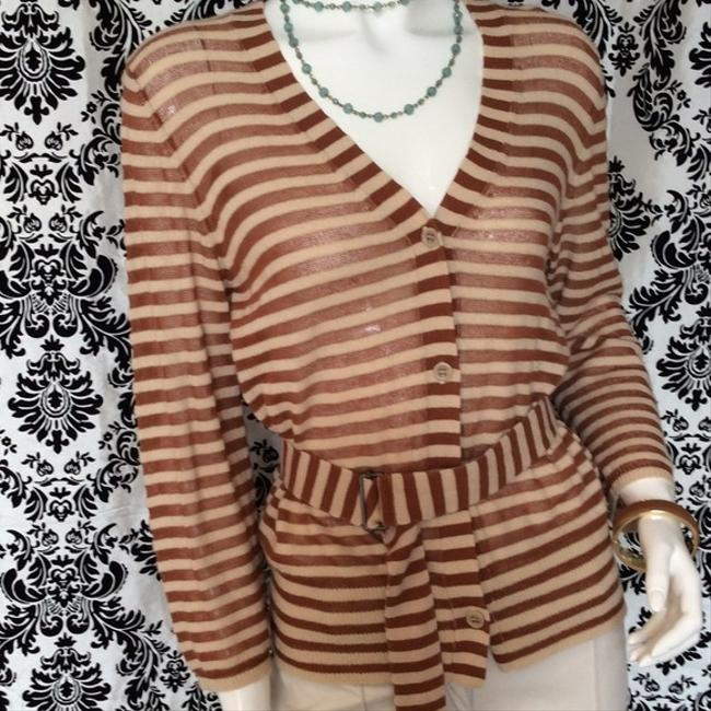 Dries van Noten Striped Belted Cardigan