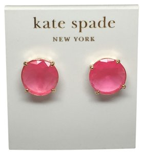 Kate Spade NEW!!! Tags Kate Spade Pink Gumdrop Stud Round Earrings NWT!