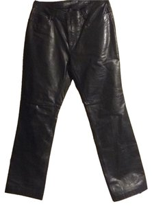 Gap Boot Cut Pants Black leather