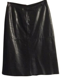 Gap Skirt Black leather