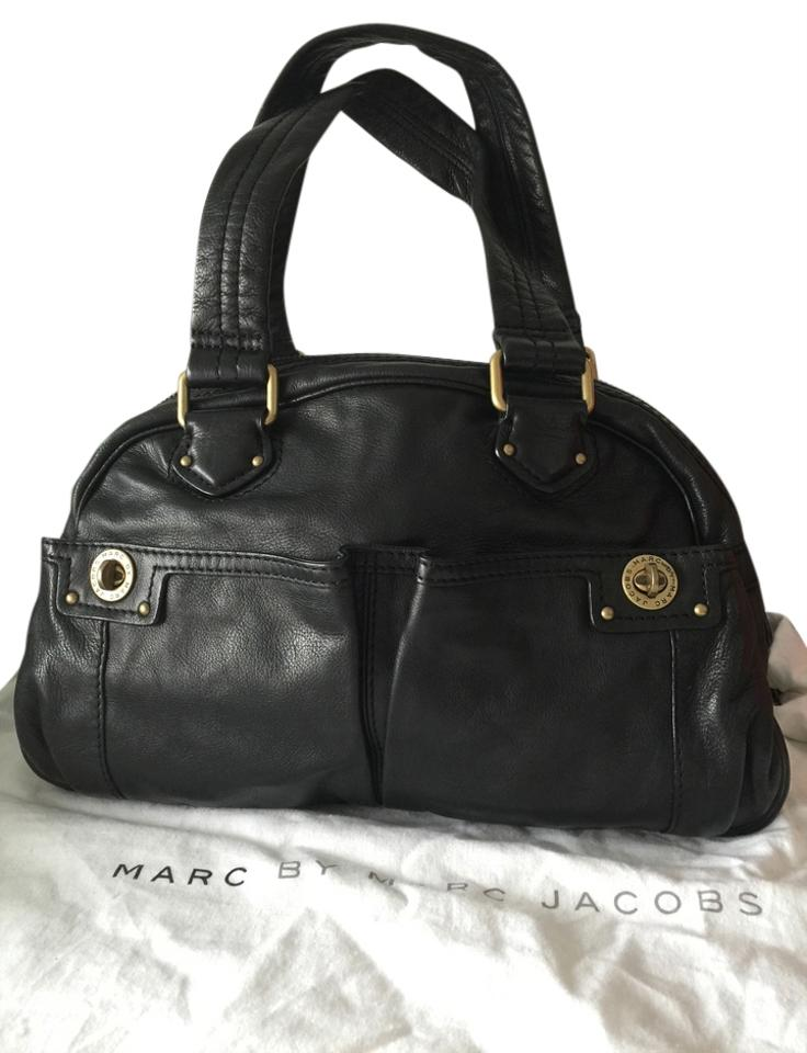 51465a36d13d Marc by Marc Jacobs Totally Turnlock Bowler Core Black Leather ...