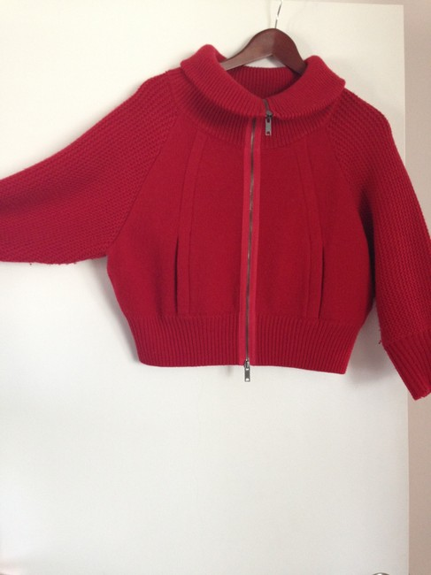 DKNY Knit Wool Red Jacket