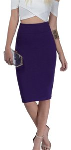 Tobi Pencil Tight Skirt Purple