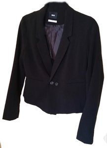 BDG Urban Outfitters Uo Jacket Work Wear Office Wear Casual Long Sleeves Black Blazer