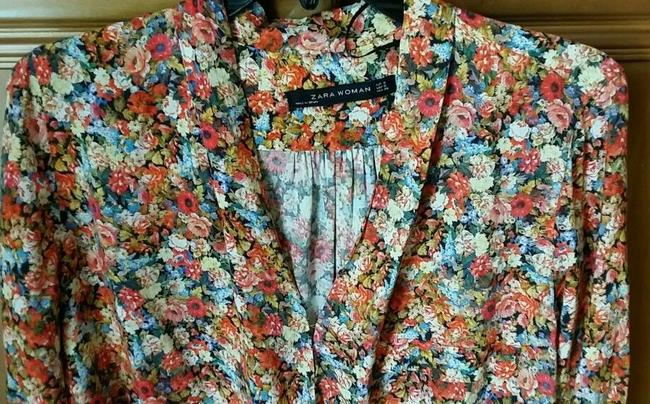 Zara Top Red Floral