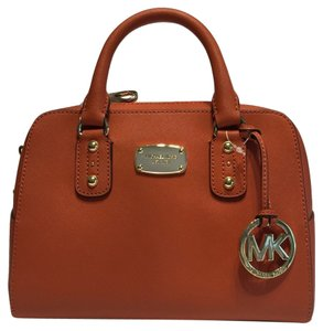 Michael Kors Small Satchel in Burnt Orange