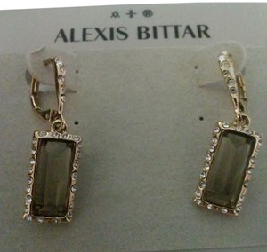 Alexis Bittar ALEXIS BITTAR Smoky Quartz & Crystal Encrusted Dangle/drop Earring