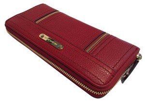 Michael Kors Michael Kors ZA Continental Moxley Red Clutch Wallet