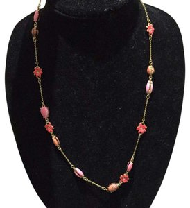 Kate Spade Kate Spade Glossy Petals Scatter Coral Necklace