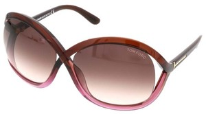 Tom Ford Tom Ford Brown/Purple Gradient Oversized Sunglasses